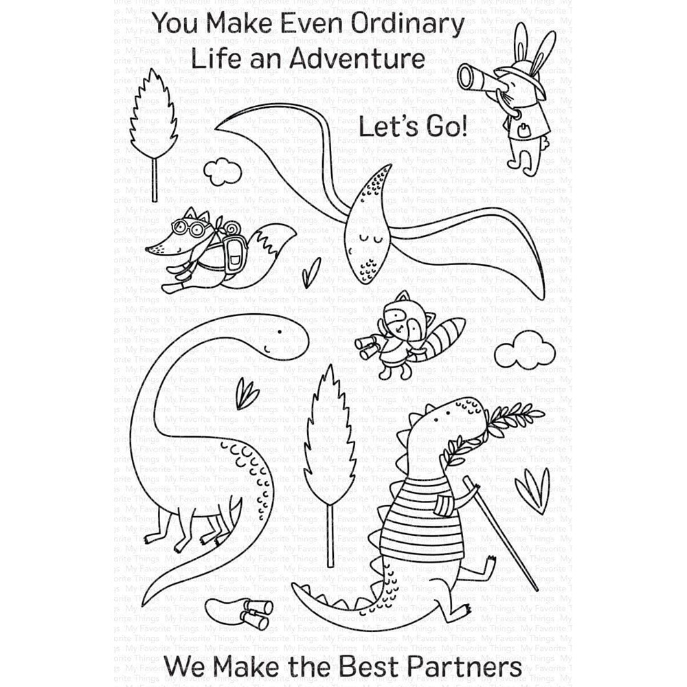 My Favorite Things DINO ADVENTURE Clear Stamps cs591 zoom image