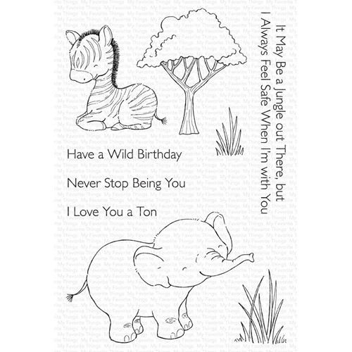 My Favorite Things SWEETEST SAFARI SET 1 Clear Stamps sy36 Preview Image