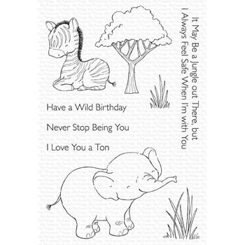 My Favorite Things SWEETEST SAFARI SET 1 Clear Stamps sy36