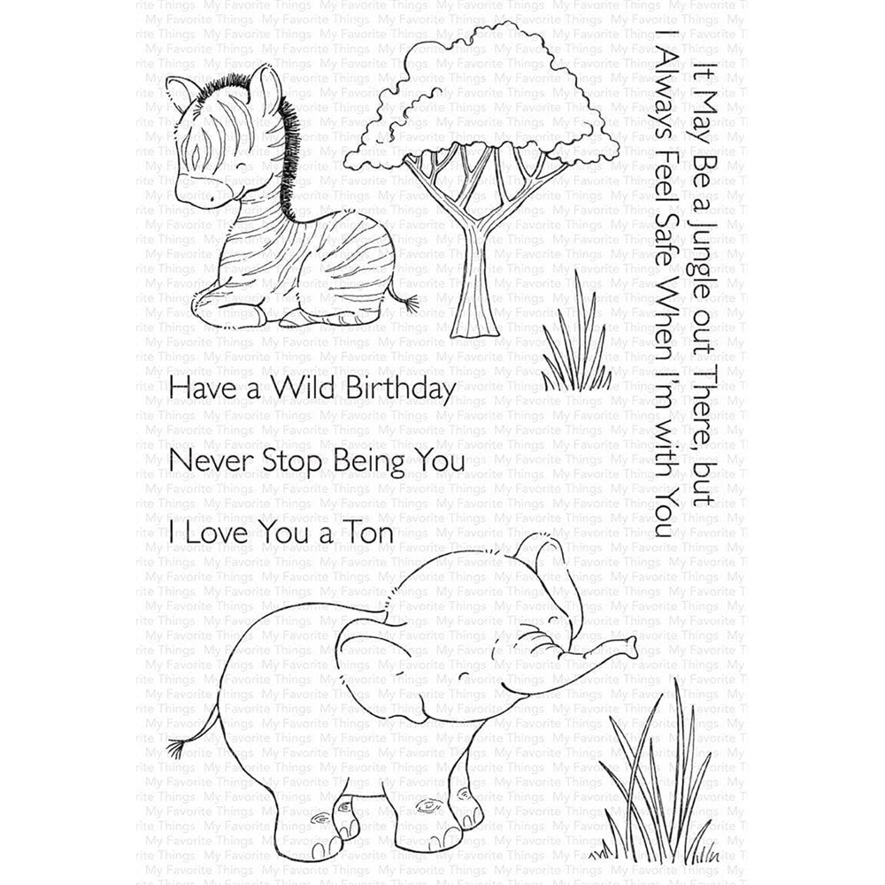 My Favorite Things SWEETEST SAFARI SET 1 Clear Stamps sy36 zoom image