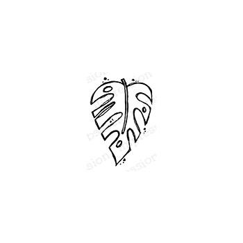 Impression Obsession Cling Stamp SMALL LEAF B21436