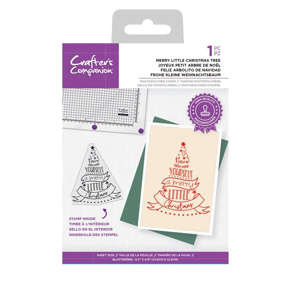 Crafter's Companion MERRY LITTLE CHRISTMAS TREE Clear Stamp Set ccstpmlch zoom image