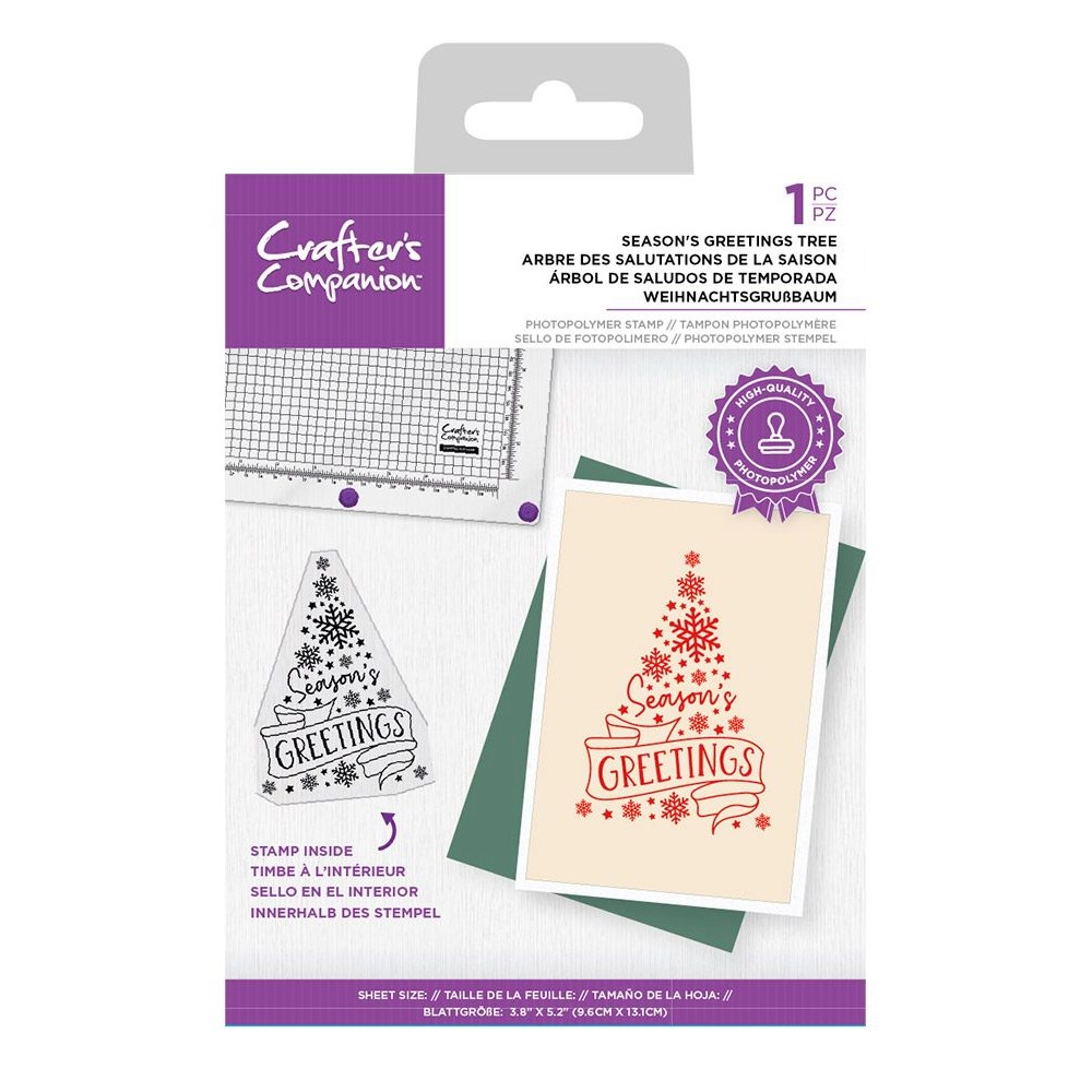 Crafter's Companion SEASON'S GREETINGS TREE Clear Stamp Set ccstpsege zoom image