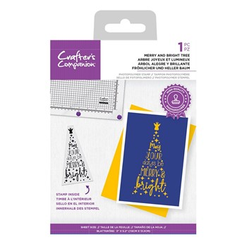 Crafter's Companion MERRY AND BRIGHT TREE Clear Stamp Set ccstpmbri