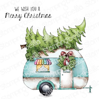 Stamping Bella Cling Stamps CHRISTMAS CAMPER eb1045