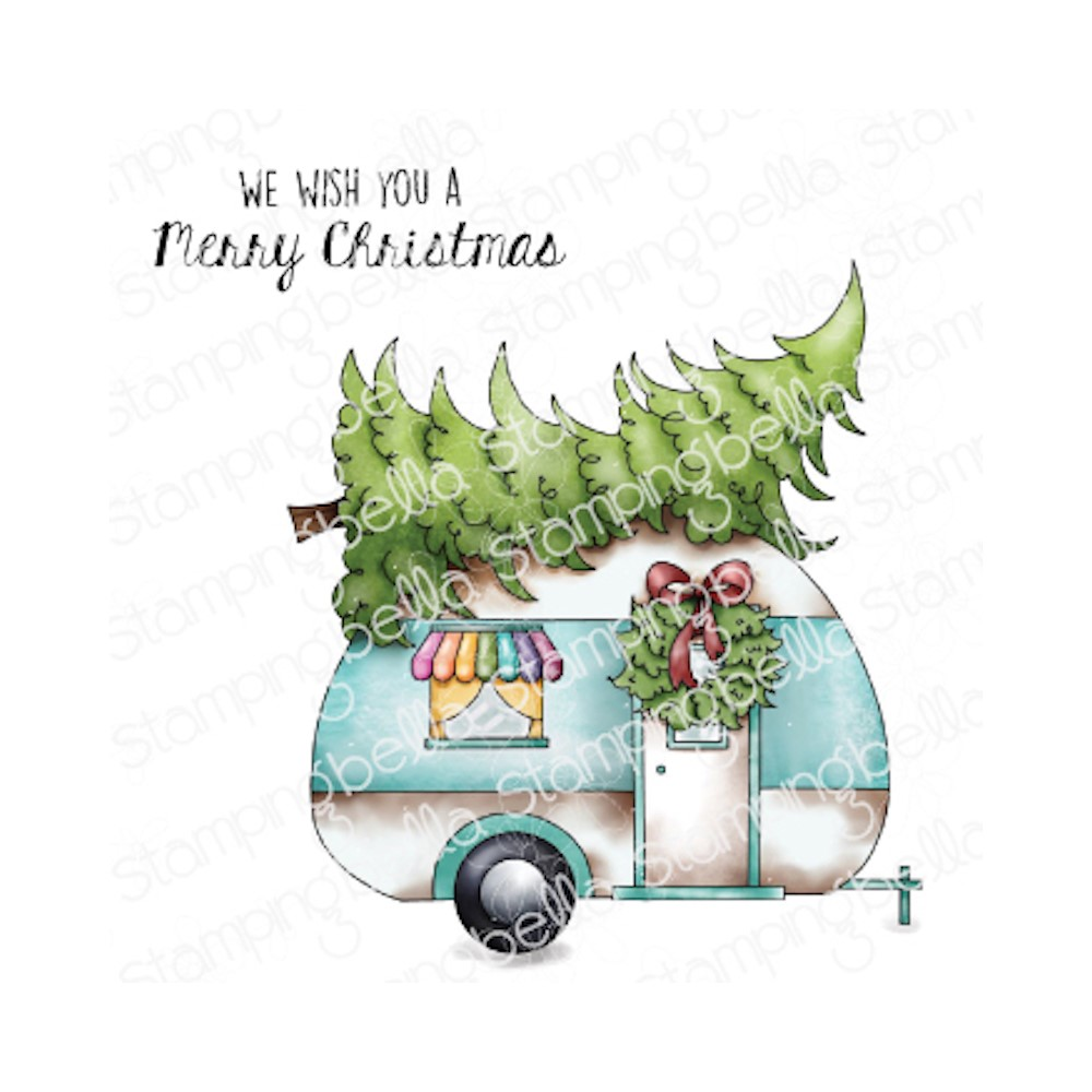 Stamping Bella Cling Stamps CHRISTMAS CAMPER eb1045 zoom image