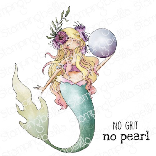 Stamping Bella Cling Stamps CURVY GIRL MERMAID eb1046 Preview Image