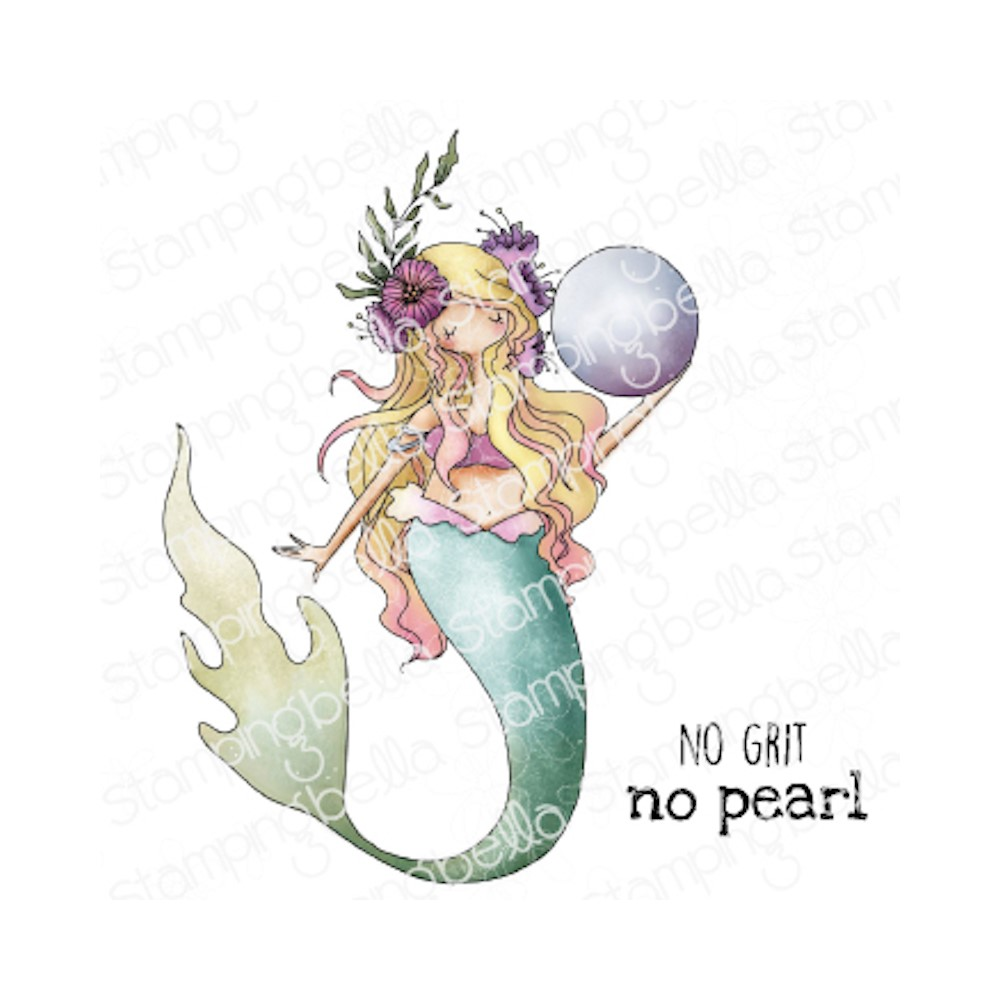 Stamping Bella Cling Stamps CURVY GIRL MERMAID eb1046 zoom image