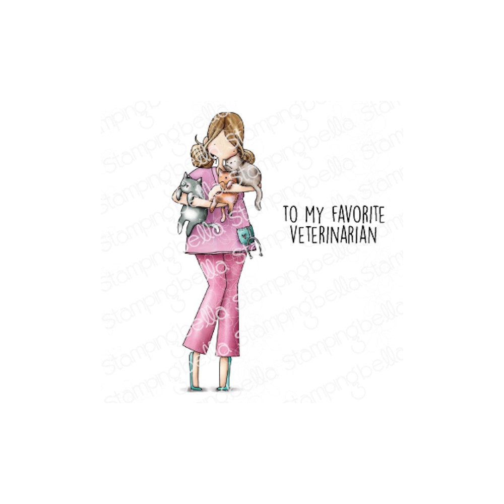 Stamping Bella Cling Stamps CURVY GIRL VET eb1048 zoom image