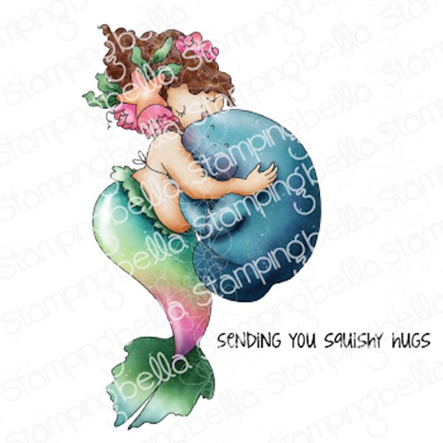Stamping Bella Cling Stamps EDNA AND THE MANATEE eb1050 Preview Image