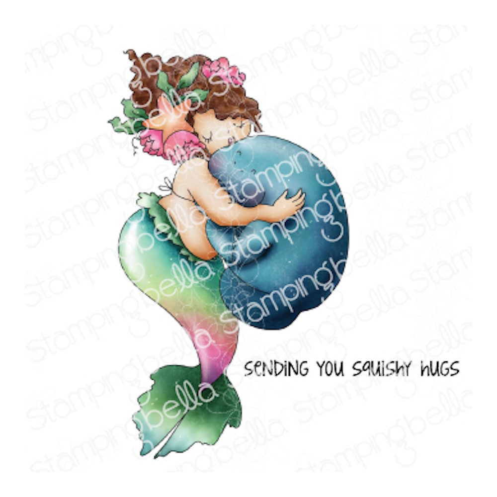 Stamping Bella Cling Stamps EDNA AND THE MANATEE eb1050 zoom image