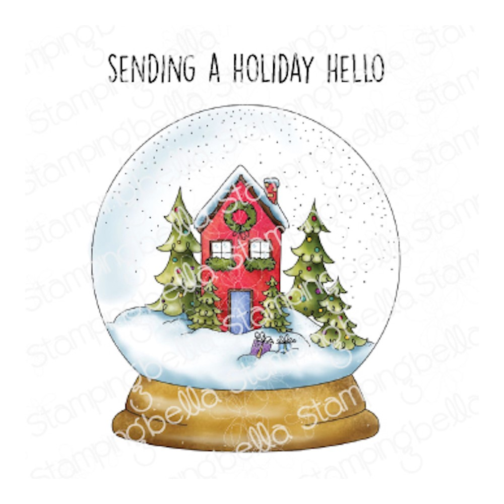 Stamping Bella Cling Stamps HOLIDAY SNOW GLOBE eb1057 zoom image