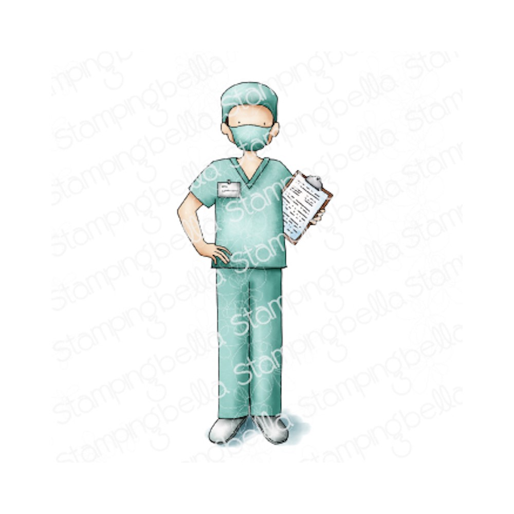 Stamping Bella Cling Stamps MALE NURSE eb1058 zoom image