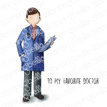 Stamping Bella Cling Stamps MY FAVORITE DOCTOR eb1059