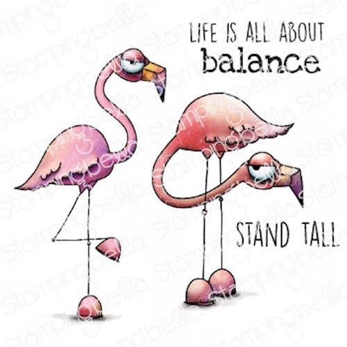 Stamping Bella Cling Stamps ODDBALL FLAMINGOS eb1061 Preview Image