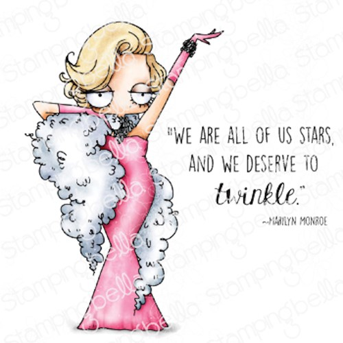 Stamping Bella Cling Stamps ODDBALL MARILYN eb1062 Preview Image