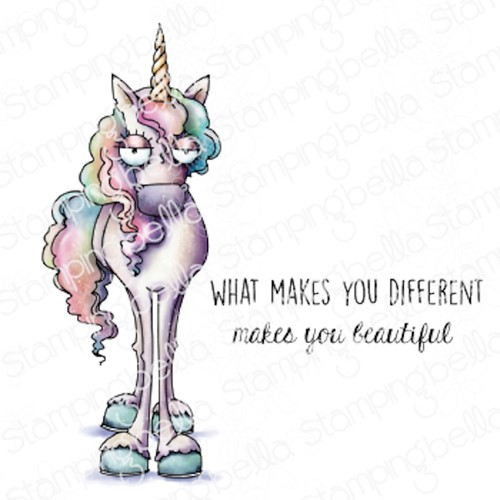 Stamping Bella Cling Stamps ODDBALL UNICORN eb1064 Preview Image