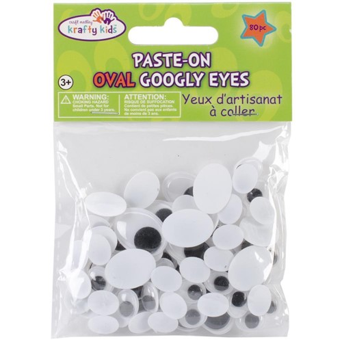 Assorted Sizes OVAL GOOGLY EYES Pack em402 Preview Image