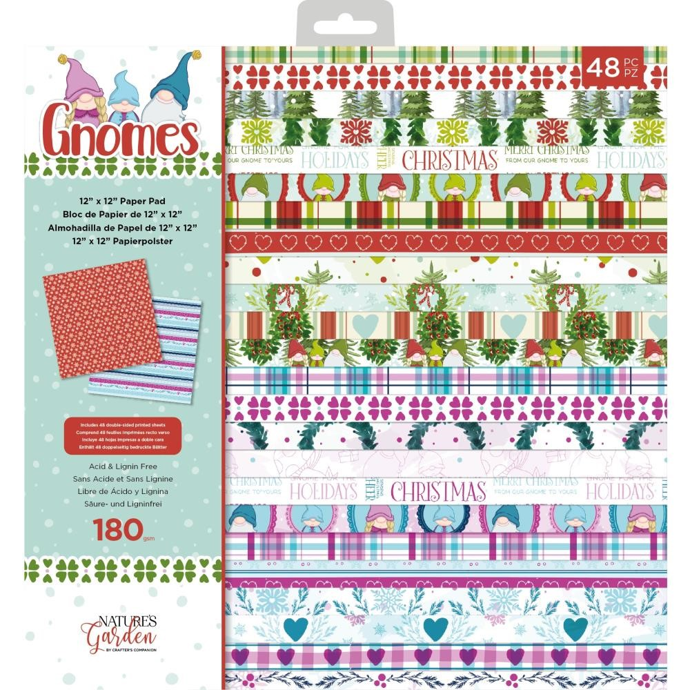 Crafter's Companion GNOME 12 x 12 Paper Pad nggnpad12 zoom image