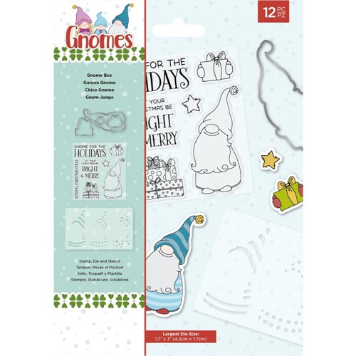 Crafter's Companion GNOME BOY Stamp And Die Set nggnstdgboy* Preview Image