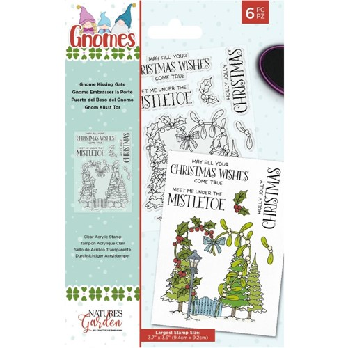 Crafter's Companion GNOME KISSING GATE Clear Stamp Set nggnstgkiss Preview Image