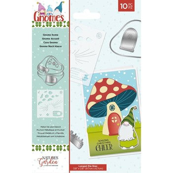 Crafter's Companion GNOME HOME Stencil And Die Set nggnstendgho