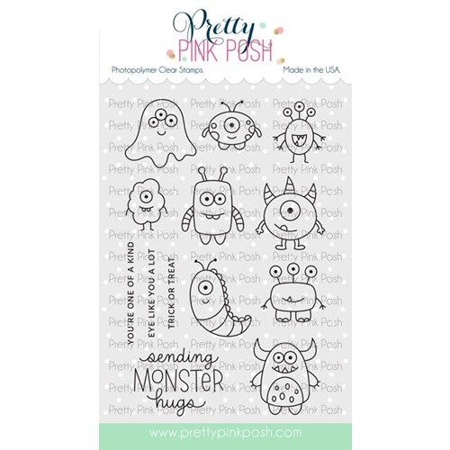 Pretty Pink Posh MONSTER HUGS Clear Stamps Preview Image