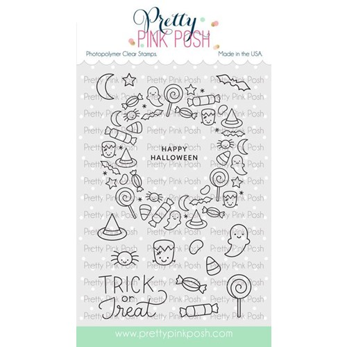 Pretty Pink Posh HALLOWEEN WREATH Clear Stamps Preview Image
