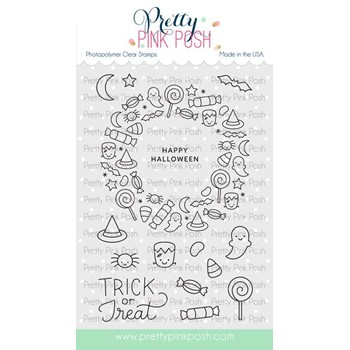 Pretty Pink Posh HALLOWEEN WREATH Clear Stamps