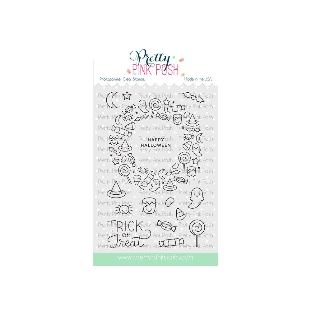 Pretty Pink Posh HALLOWEEN WREATH Clear Stamps zoom image