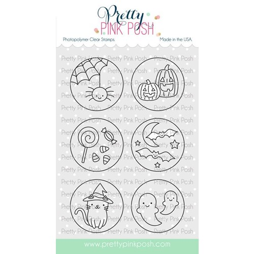 Pretty Pink Posh HALLOWEEN CIRCLES Clear Stamps Preview Image