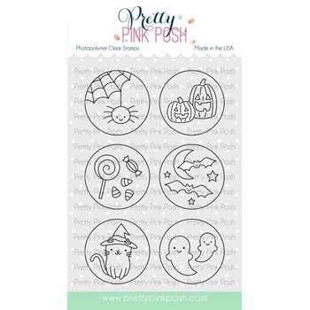 Pretty Pink Posh HALLOWEEN CIRCLES Clear Stamps
