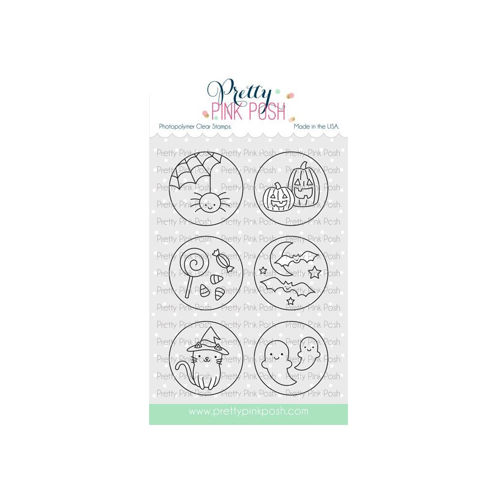 Pretty Pink Posh HALLOWEEN CIRCLES Clear Stamps zoom image