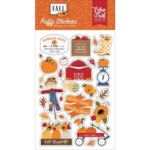 Echo Park FALL Puffy Stickers fal251066 Preview Image