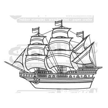 Stamplistic GALLEON Cling Stamp k210701