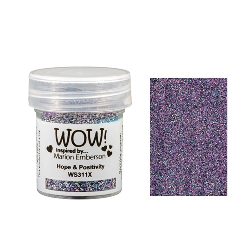 WOW Embossing Glitter HOPE AND POSITIVITY WS311X Preview Image