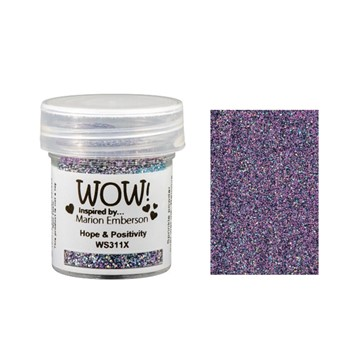 WOW Embossing Glitter HOPE AND POSITIVITY WS311X
