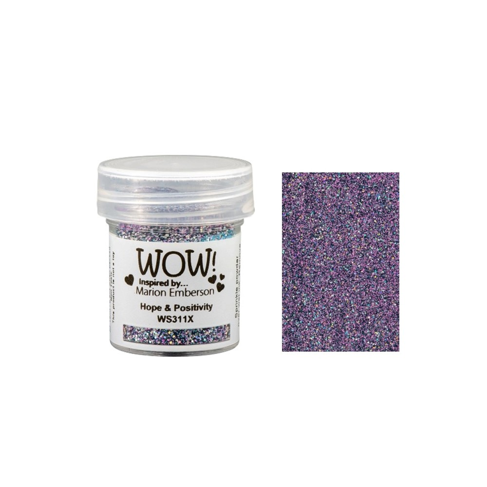 WOW Embossing Glitter HOPE AND POSITIVITY WS311X zoom image