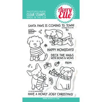 Avery Elle Clear Stamps SANTA PAWS ST-21-37