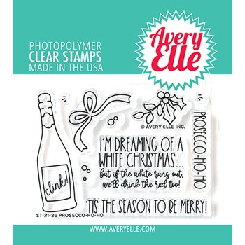 Avery Elle Clear Stamps PROSECCO-HO-HO ST-21-36