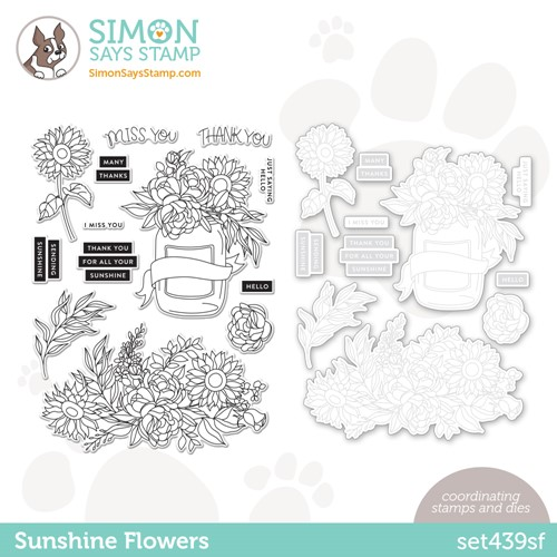 Simon Says Stamps and Dies SUNSHINE FLOWERS set439sf * Preview Image