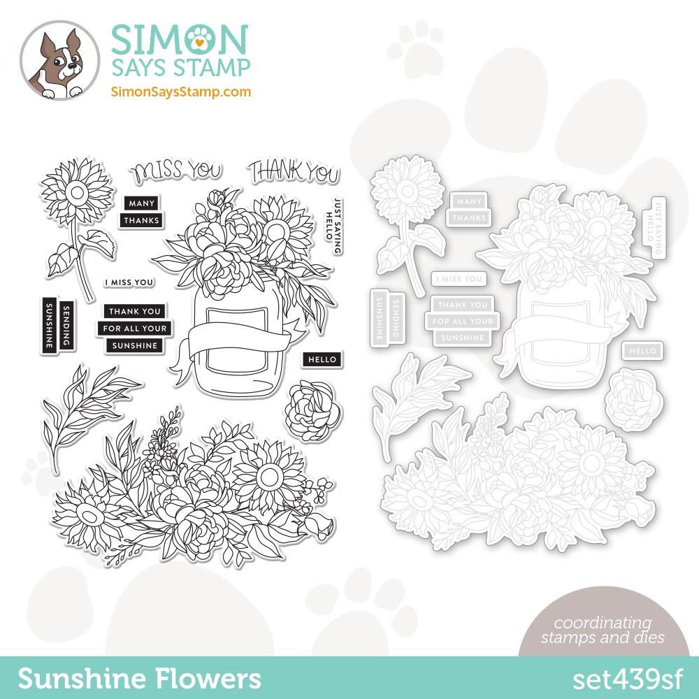 Simon Says Stamps and Dies SUNSHINE FLOWERS set439sf * zoom image