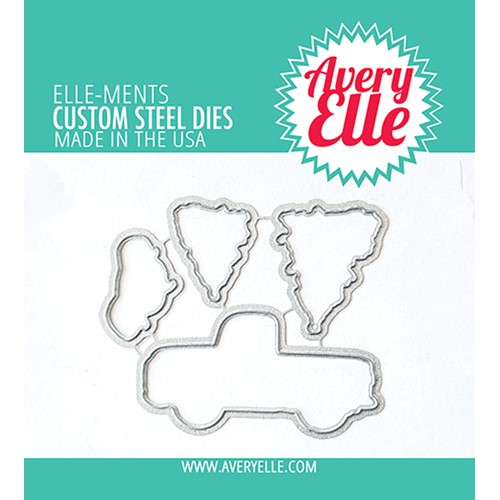 Avery Elle Steel Dies LAYERED HOLIDAY TRUCK D-21-33 Preview Image