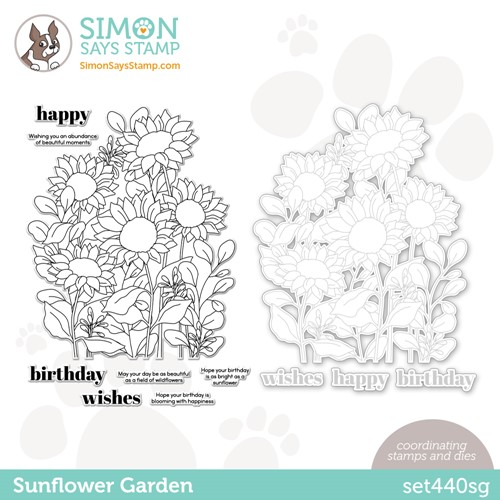 Simon Says Stamps and Dies SUNFLOWER GARDEN set440sg Preview Image