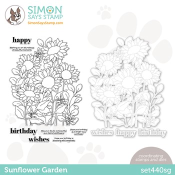Simon Says Stamps and Dies SUNFLOWER GARDEN set440sg