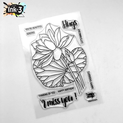 Inkon3 LOTUS Clear Stamps 04104 Preview Image