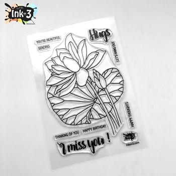 Inkon3 LOTUS Clear Stamps 04104