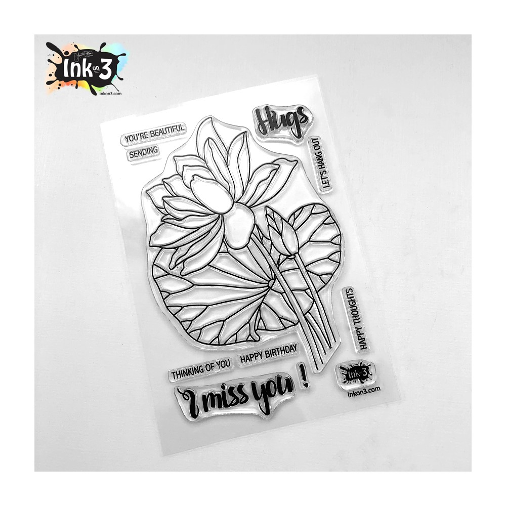 Inkon3 LOTUS Clear Stamps 04104 zoom image