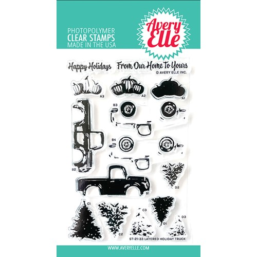 Avery Elle Clear Stamps LAYERED HOLIDAY TRUCK ST-21-33 Preview Image