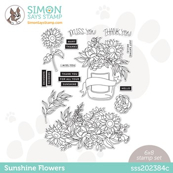Simon Says Clear Stamps SUNSHINE FLOWERS sss202384c